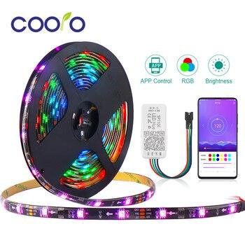 WS2811 RGB LED Strip 5050 SMD Addressable 30/60LEDs/m SP110E Bluetooth APP Control 5m 10m 1 Ic Control 3 LEDs Pixel Strips Set 5m dc12v ws2811 2811 ic 5050 smd independent addressable rgb led pixels strip 30leds m dream magic color led pixels with control