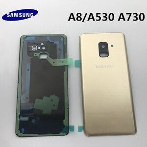 Image 3 - Ban Đầu Mới Dành Cho Samsung Galaxy Samsung Galaxy A8 A530 A530F A8 + Plus A730 Lưng Kính Pin Phía Sau Cửa Nhà Ở Lưng kính Cường Lực Mặt Sau Bao Da