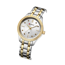 CURREN Female Watch New Arrival Fashion Forward Design Women Watches Waterproof Bling Crystal Rhinestones Relojes Para Mujer