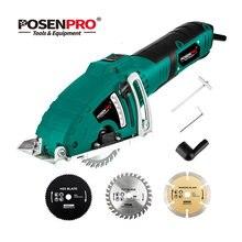 POSENPRO-minisierra Circular eléctrica de 700W, herramienta de mano para cortar madera/Metal, accesorio de guía paralelo, 3 uds.