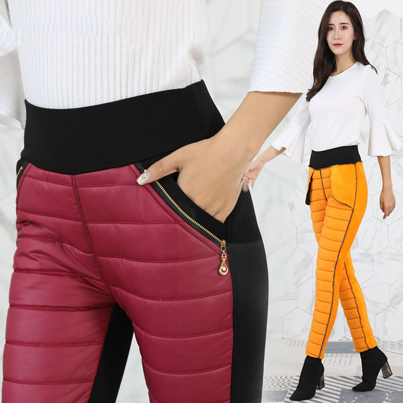 Casual Velvets Warm Pants Mom Basics Plus Size Pencil Skinny Pants 2019 Large Size Stretch Trousers Female Mon's Jogger Leggings