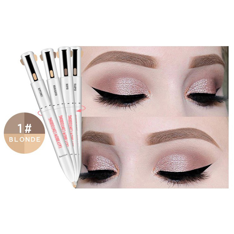 4 In 1 Eyebrow Pencil Waterproof Drawing Lasting Easy Color Eyebrow Pen Makeup Tool