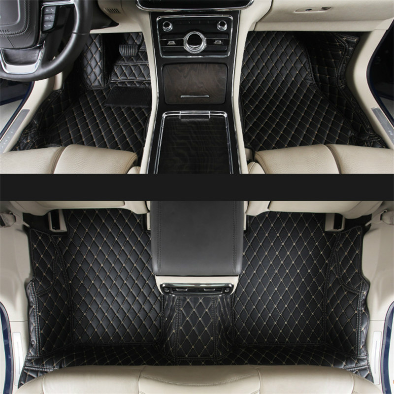 lsrtw2017 luxury interior leather car interior floor mat for lincoln Continental 2016 2017 2018 2019 2020 accessories carpet