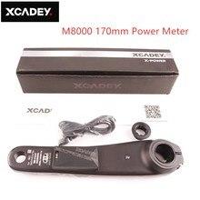 SHIMANO Deore pédalier électrique pour vtt, côté gauche, X POWER mètres, 170mm 175mm, XCADEY, x8000, Support GPS, ANT + Bluetooth