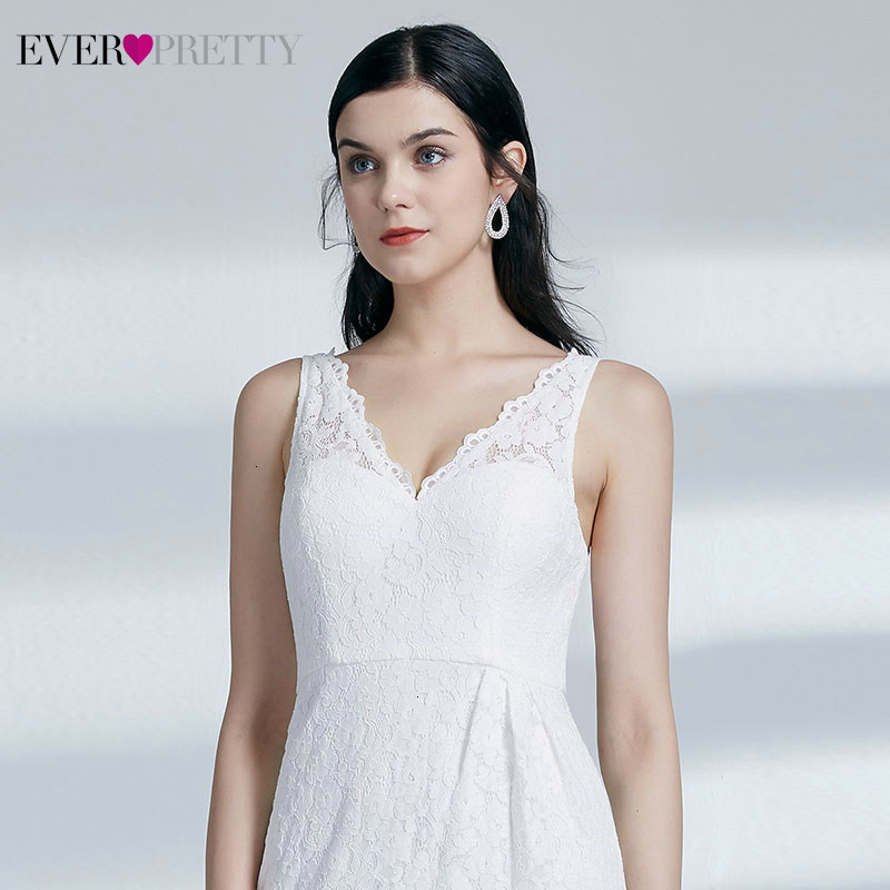 Image 5 - Sexy Short Homecoming Dresses Ever Pretty Double V Neck Sleeveless Above Knee Lace Little Mermaid Dresses Vestido De Formatura-in Homecoming Dresses from Weddings & Events