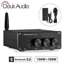 مضخم الصوت الرقمي Nobsound Mini TPA3116 HiFi Bluetooth 5.0 فئة D مضخم طاقة استيريو 100 وات * 2