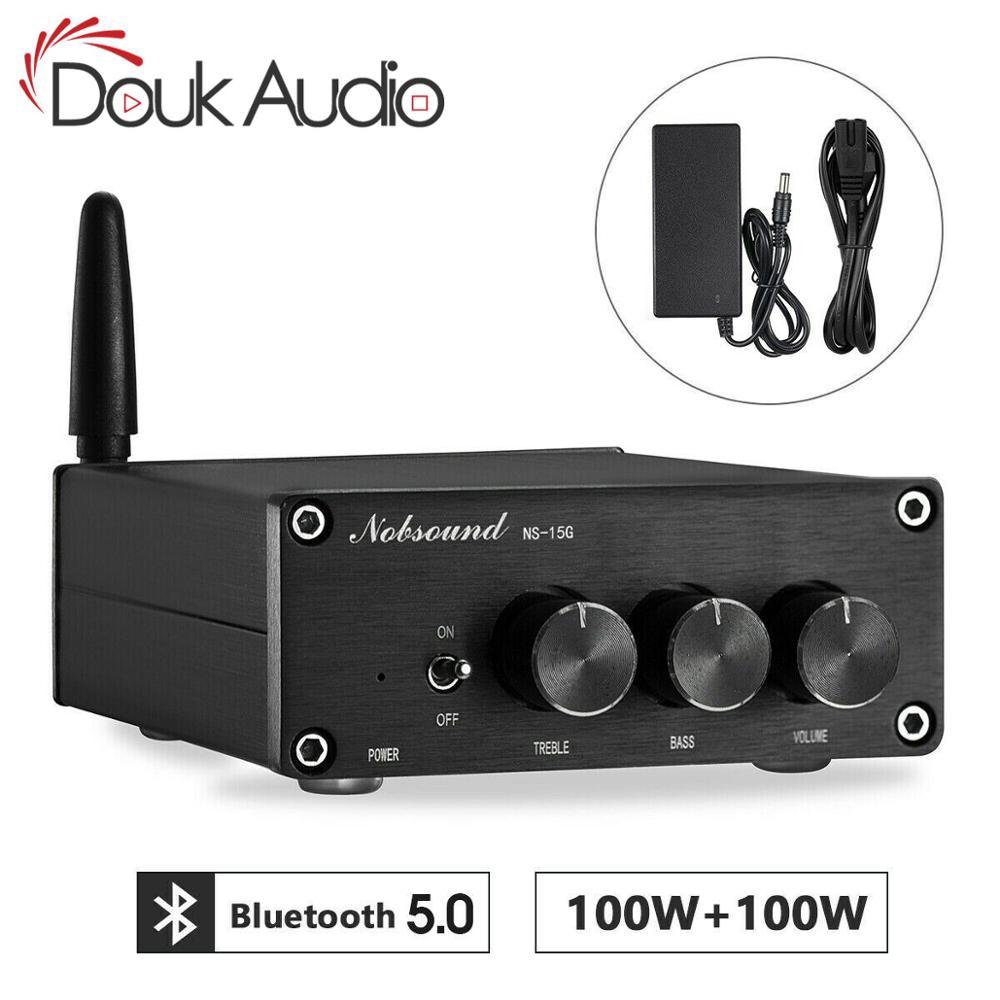 Nobsound mini tpa3116 amplificador de áudio digital alta fidelidade bluetooth 5.0 classe d potência estéreo amp 100 w * 2