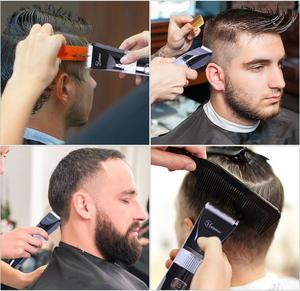 Image 5 - HATTEKER Professional Hair Clipper Ceramic Blade Waterproof Electric Hair Trimmer LED Display Haircut Machine for Men