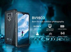 Image 2 - Смартфон Blackview BV9800 на Android 9,0, экран 6,3 дюйма, IP68 и IP69K, Восьмиядерный процессор Helio P70, 6 ГБ + 128 Гб, камера 48 МП, Беспроводная зарядка