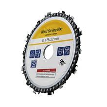 Диск для резьбы по дереву 5 дюймов шлифовальный диск с цепью деревообрабатывающий пильный диск режущий диск с прорезями по дереву пильный диск для углового шлифовального станка 12522 мм 86