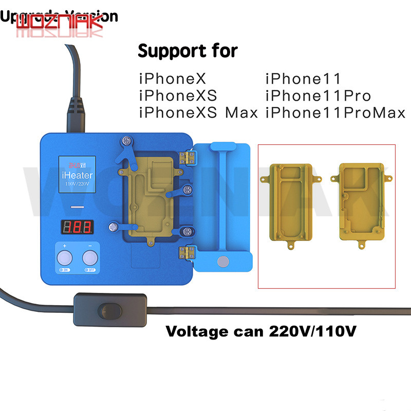 JC IHeater 220V/110V Pre-heating Station Digital Thermostat Platform Heating Plate For IPhone 11 Pro X XS MAX Motherboard Fixtur