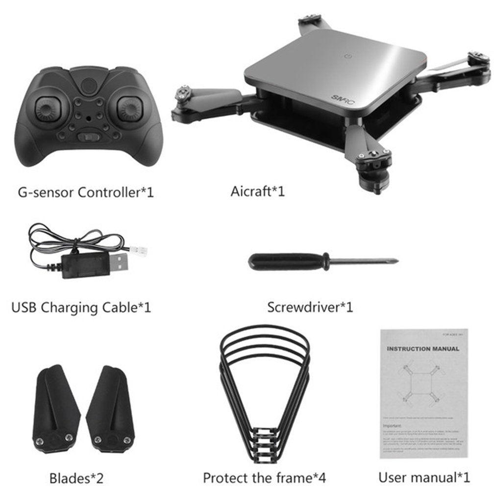 <font><b>SMRC</b></font> S1 Foldable Mini Headless Mode RC Drone Quadcopter Aircraft with/without 30W/720P WIFI HD Camera Altitude Hold RC Model <font><b>Toy</b></font> image