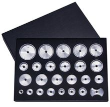 Envío Gratis, caja de aluminio roscado, troqueles, juego de 25 para reparación de relojes