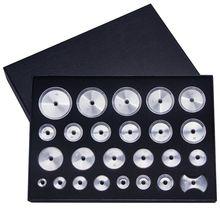 Livraison gratuite en aluminium fileté boîtier matrices lot de 25 pour la réparation de montre