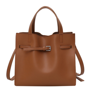 Image 5 - Solid Color Pu Leather Shoulder Bags For Women 2020 Fall High Capacity Handbags and Purses Belt Design Lady Travel Hand Bag