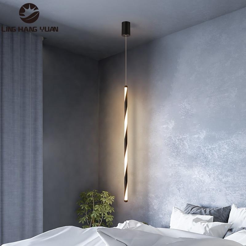 Led Pendant Lights for Bedroom Living Room Dining Room Kitchen Bedside Lights Black&White Frame Indoor Home Lighting Fixtures