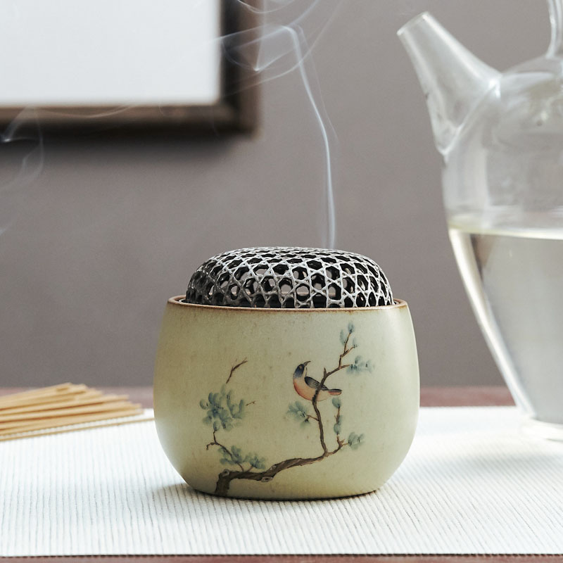 Mini Chinese Incense Burners Ceramic Antique Bedroom Smell Diffuser Incense Holder Brule Parfum Home Buddhist Supplies MM60XXL