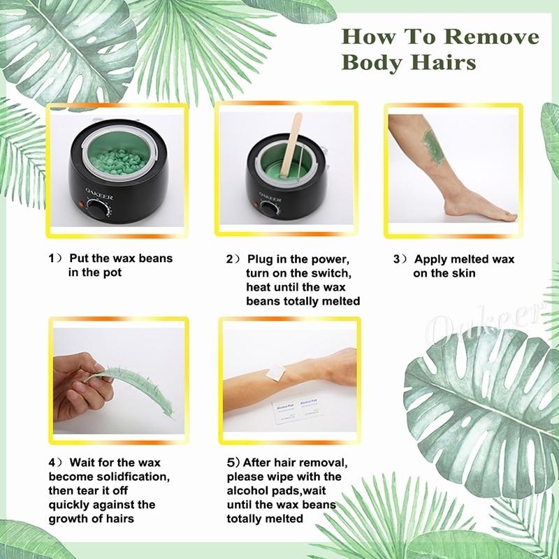Depilação cera mergulhando pote remoção do cabelo