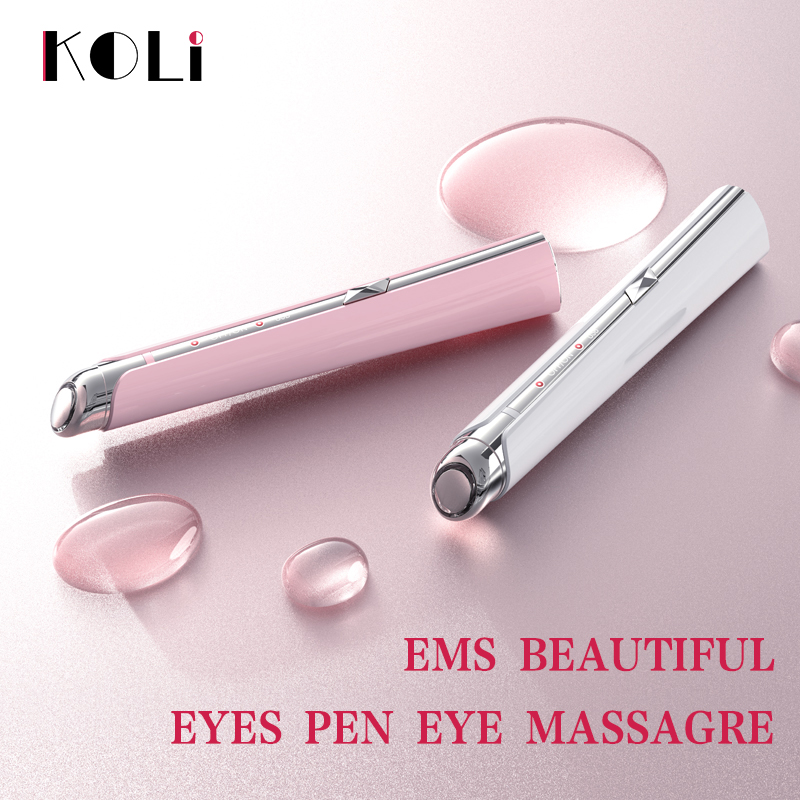 Koli Acne Removal Pen Blue Light Eye Bag Dark Circles Removing Stick Eye Massager Beatuty Instrument Face Skin Care