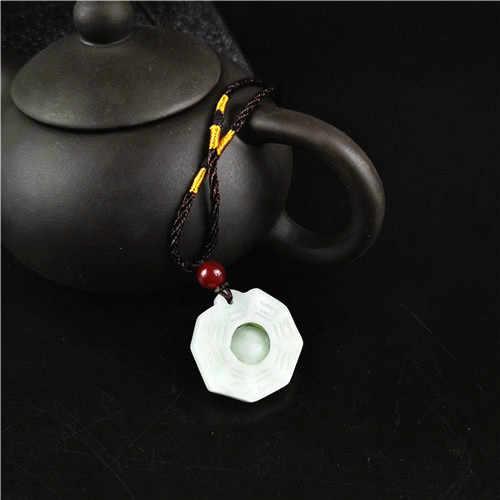 ธรรมชาติมรกต Tai Chi Gossip จี้หยกลูกปัดสร้อยคอสร้อยคอสร้อยคอสร้อยคอสร้อยคอสร้อยคอสร้อยคอสร้อยคอสร้อยคอสร้อยข้อมือหยกเครื่องประดับอัญมณีแฟชั่นแกะสลักของขวัญ Amulet สำหรับผู้หญิงผู้ชาย