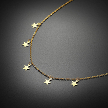 Vnox Elegant Star Charms Chokers Necklaces for Women Stainless Steel Trendy Female Party Girl Street Wear Jewelry Adjustable