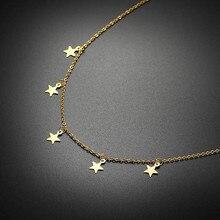 Vnox zarif yıldız takılar Chokers kolye kadınlar için paslanmaz çelik moda kadın parti kız sokak giyim takı ayarlanabilir