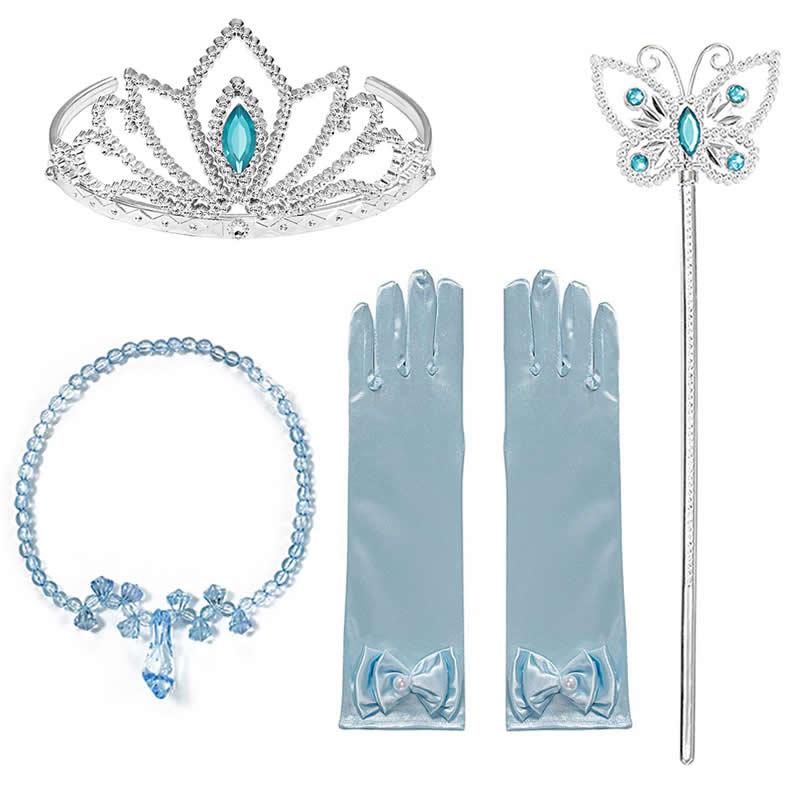 Meninas neve branca princesa coroa varinha mágica