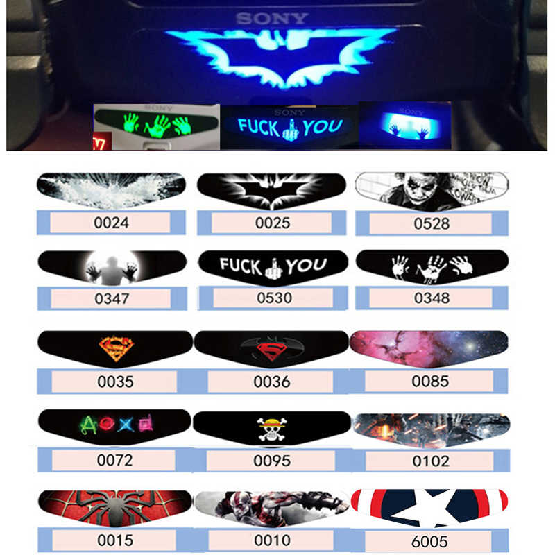 1 PCS Fashion LED Light Bar Stickers For Playstation 4 Led Light Decal PS4 Controller Gamepad Colorful Cover Skin