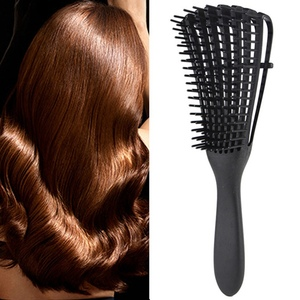 Image 1 - 2019 kadın saç derisi masaj tarak kıl ve naylon saç fırçası islak kıvırcık Detangle saç fırçası Salon kuaförlük şekillendirici araçları