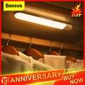 Baseus светодиодный светильник для шкафа PIR датчик движения человека индукционный шкаф лампа под шкафом ночник для кухни спальни