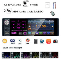 4''1 Inch Multimedia Video Auto MP5 Speler Stereo Full Touch Screen Capacitieve Radio Elektronische Auto Bluetooth Universele 2 Usb(China)