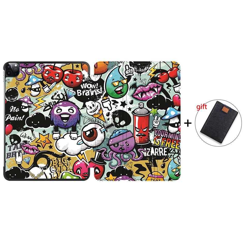 IP08 Purple MTT 2020 Case For iPad Pro 12 9 3rd 4th Generation 2018 PU Leather Flip Stand