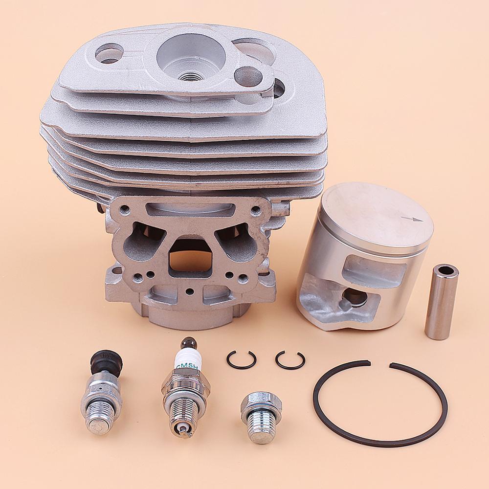 46mm Cylinder Piston Kit For Husqvarna 562XP 560 Chainsaw 575355803 Decompression Valve Spark plug