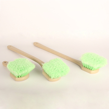 2019 New 1Pcs Long Handle Soft Hair Scratch Free Tire Brush Straight/Curved Special Design Brush for Car Clean Tires and Carpets