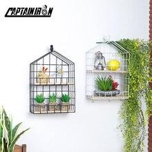 Shelf Birdcage-Shaped Decorative-Shelves Home-Decoration-Accessories Scandinavian-Style