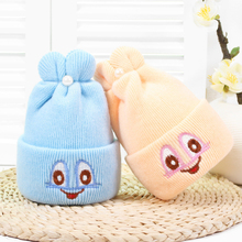 купить Cute Pearl Solid Baby Hats Knitted Wool Newborn Turban Beanie Warm Caps Soft Hat For Girls Boys Elastic Bonnet Autumn Winter New дешево