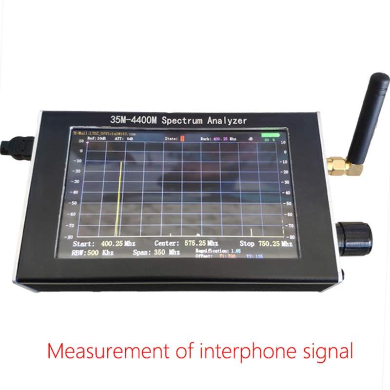 Image 2 - Портативный анализатор спектра 35 м 4400 МГц генератор сигналов анализатор спектра с 4,3 дюйма дисплей TN88Анализаторы спектра    АлиЭкспресс