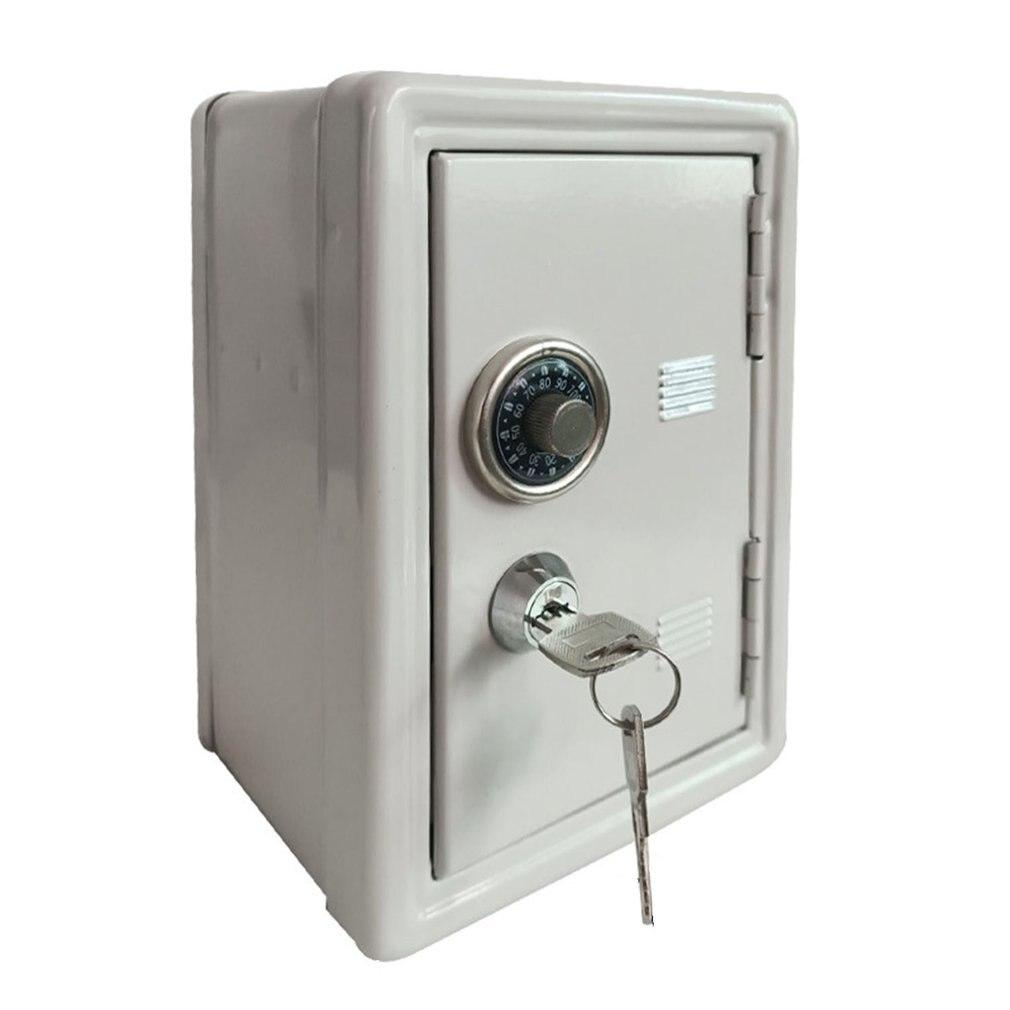 Household Insurance Box Mini Metal Safe Creative Piggy Bank Key Insurance Cabinet Desktop Decoration