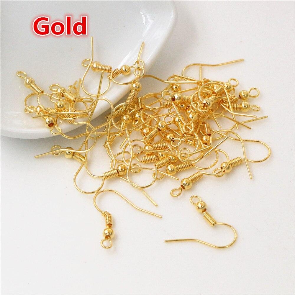 100pcs/lot 20x17mm DIY Earring Findings Earrings Clasps Hooks Fittings DIY Jewelry Making Accessories Iron Hook Earwire Jewelry 4