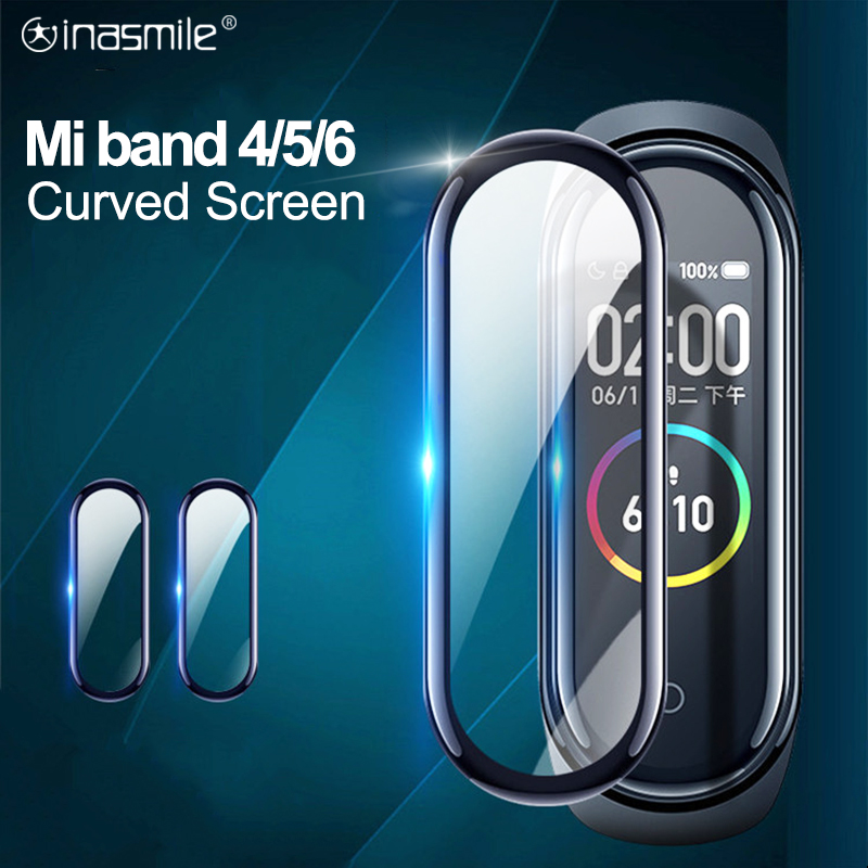 Защитная пленка 3D для Xiaomi MI band 4 5 6, мягкий полноэкранный ремешок для смарт часов Mi band 4 5 6 - Топ товаров на Али в мае