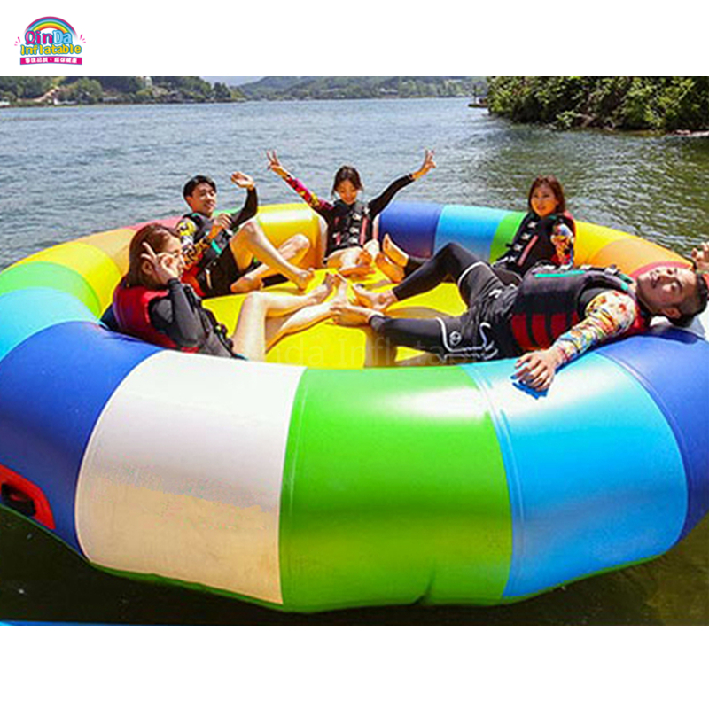 Water Toy Inflatable Disco Boat Towable / Inflatable Flying Disco Boat For Water Sports