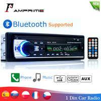 AMPrime Bluetooth Autoradio Car Stereo Radio FM Aux Input Receiver SD USB JSD-520 12V In-dash 1 din Car MP3 Multimedia Player