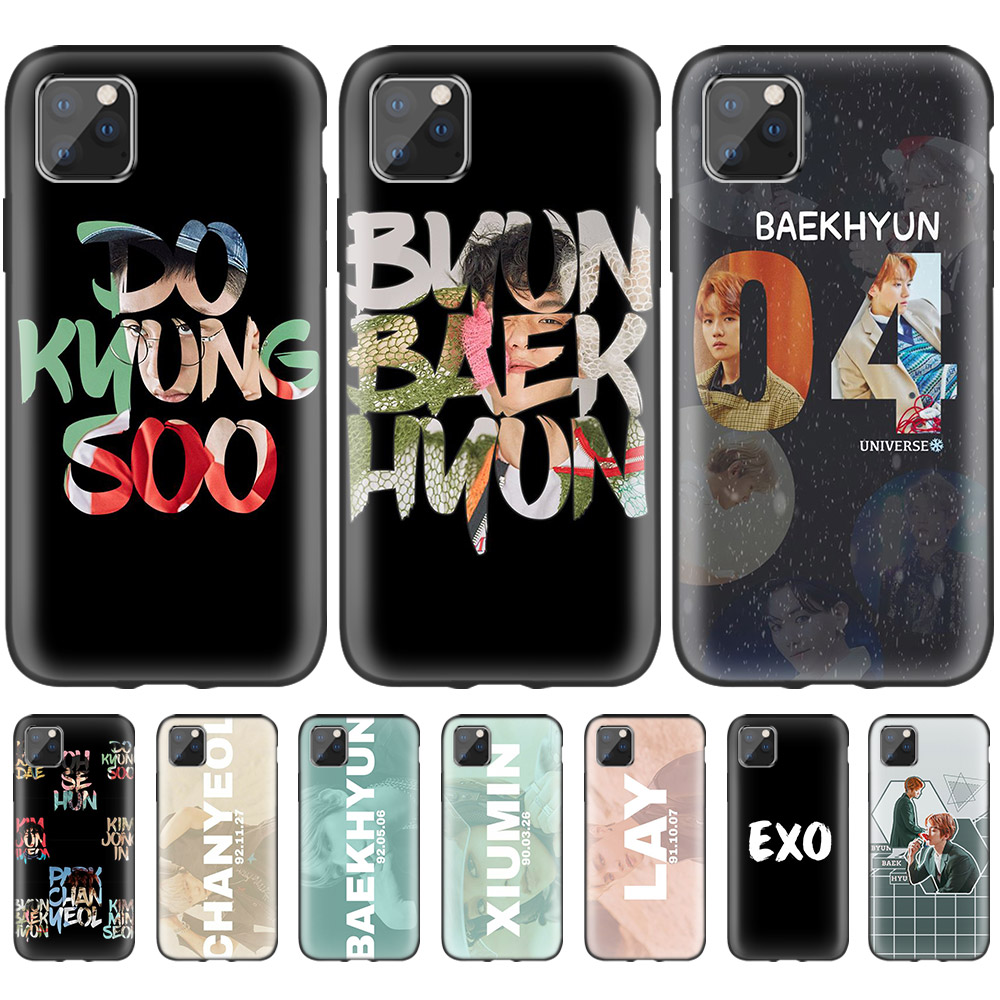 Exo K Pop Baekhyun Case For Iphone 11 Pro Xs Max Xr X 10 7 8 6 6s Plus 5s 5 Se 7s Black Silicone Phone Coque Casings Fashion Fitted Cases Aliexpress