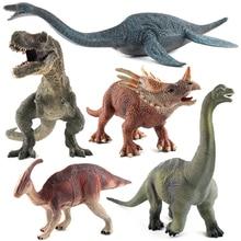Simulation Parasaurolophus Brachiosaurus Tyrannosaurus Rex Plesiosaurus Dinosaur Action Figure Toy Kids Educational Model