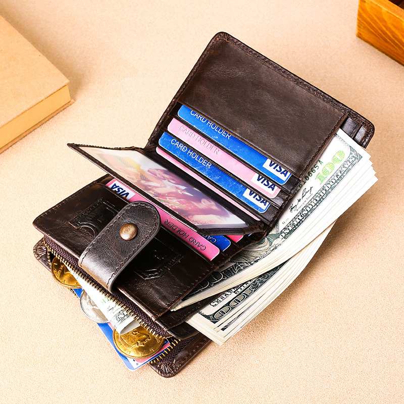 Business Casual Pure Leather Wallet For Men