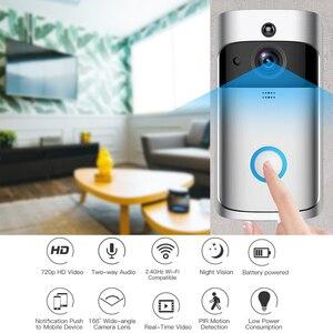 Image 2 - GEEKAM WiFi 비디오 초인종 V5 스마트 IP 비디오 인터콤 아파트 용 WI FI 비디오 도어 폰 IR 알람 무선 보안 카메라