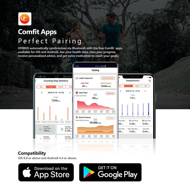 NEW Zeblaze Hybrid Smartwatch Heart Rate Blood Pressure Monitor Smart Watch Exercise Tracking Sleep Tracking Smart Notifications 4