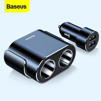 Baseus-Divisor de encendedor de cigarrillos, cargador de coche de 12V, USB Dual, adaptador de corriente de 100W, Conector de cigarro para coche