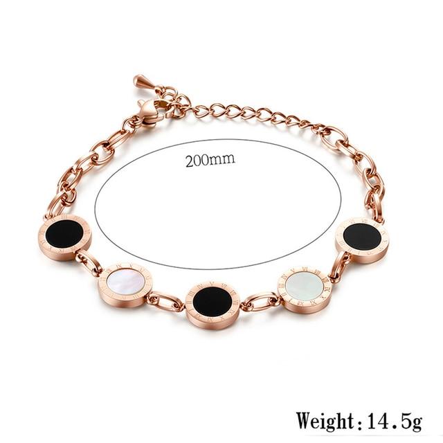 White Shell Black Charm Bracelet Bracelets Products under $30 8d255f28538fbae46aeae7: rose