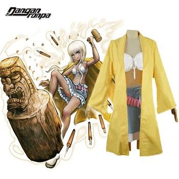 Danganronpa V3 : Killing Harmony Angie Yonaga Uniform Anime Halloween Christmas cosplay costume yellow Uniform outfit фото